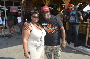 Thickly Tat'd Owner with V103's own DJ greg Street
